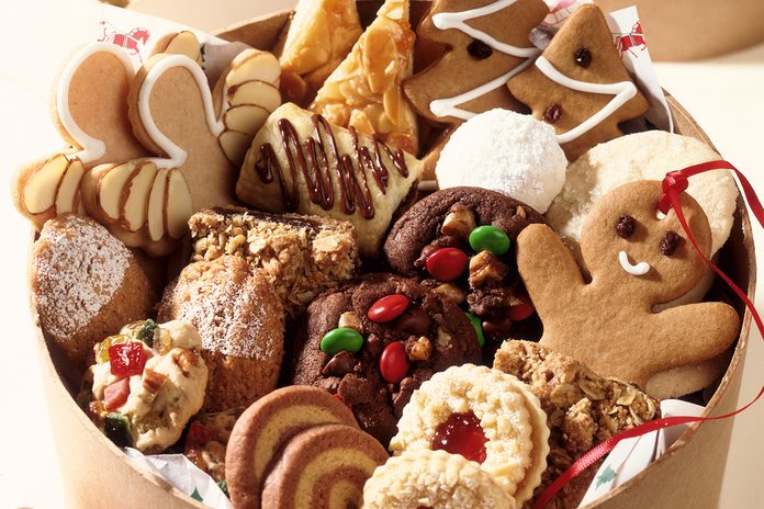 Variety of Christmas cookies