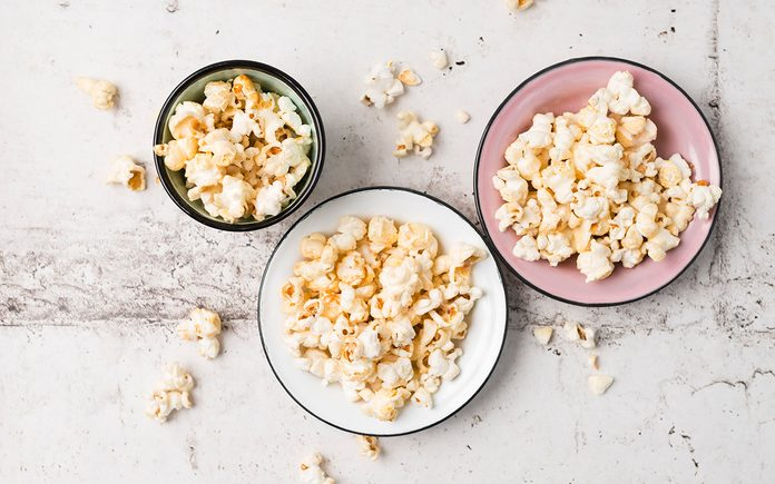Popcorn in bowls