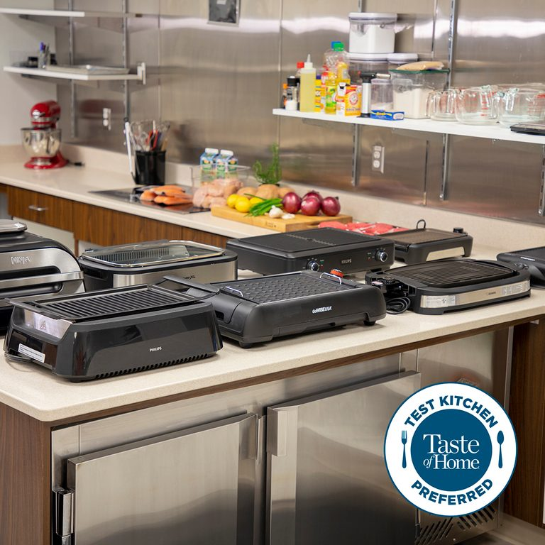 Test kitchen preferred the best smokeless grills square