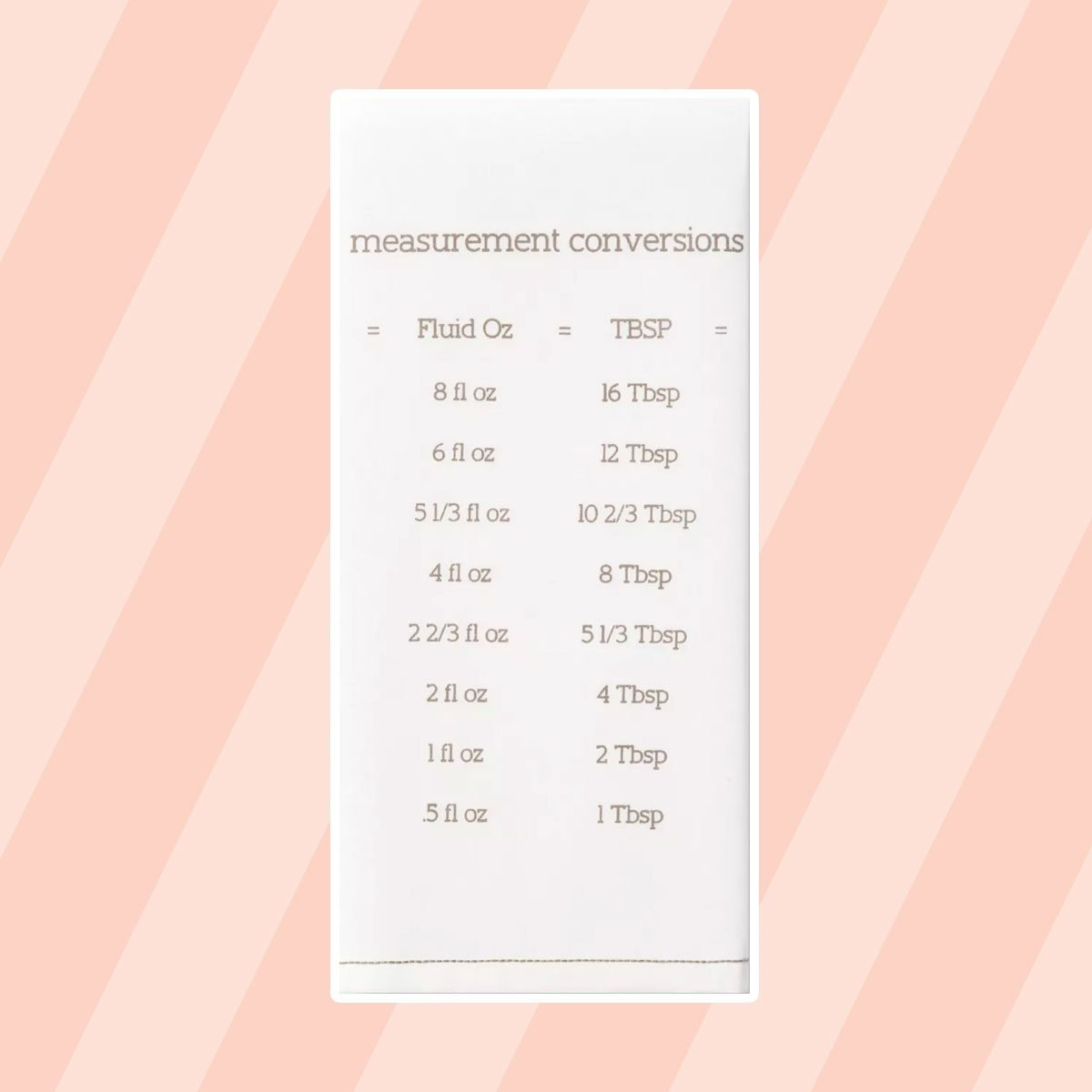 Measurement Conversion Tea Towel 1