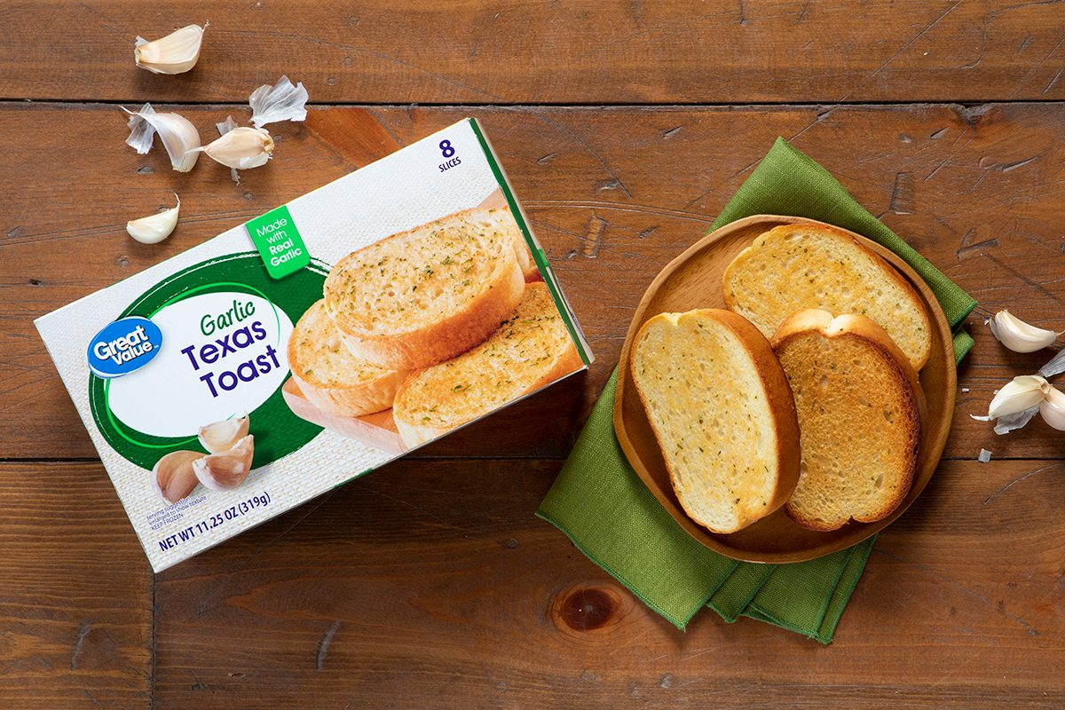 Great Value Texas Toast In Package And On Plate.