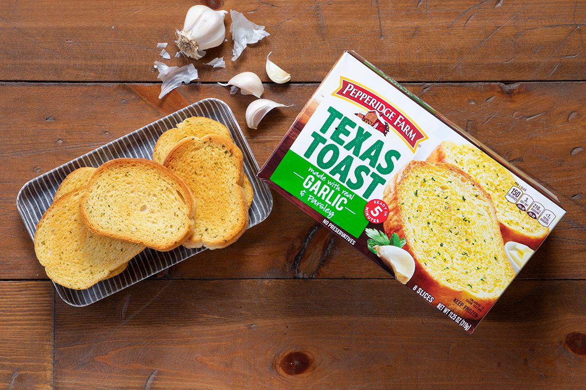 Pepperidge Farms Texas Toast In Package And On Plate.