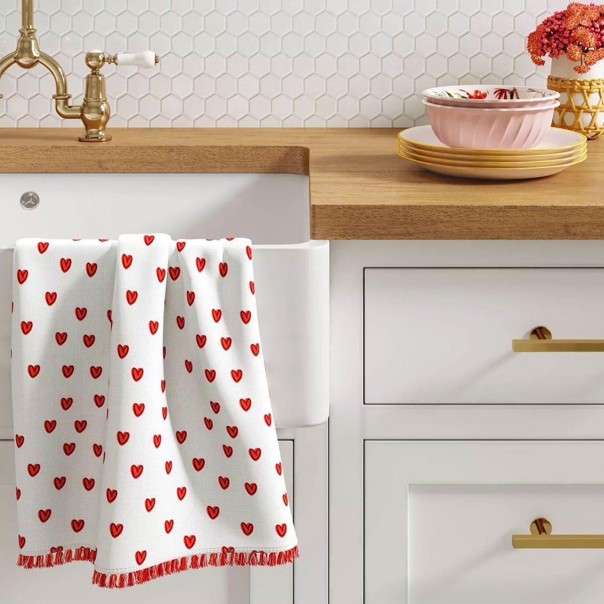 Valentines Day Kitchen Towel