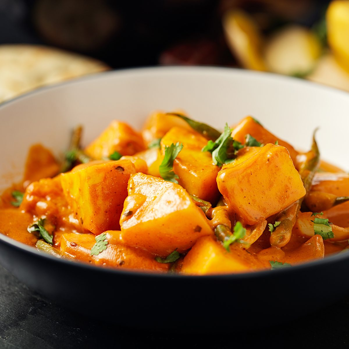 Healthy Butternut Squash And Beans Curry