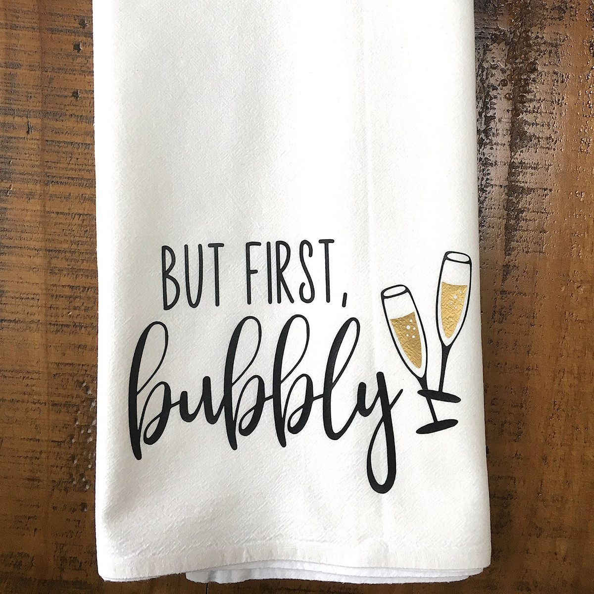 Champagne Kitchen Towel