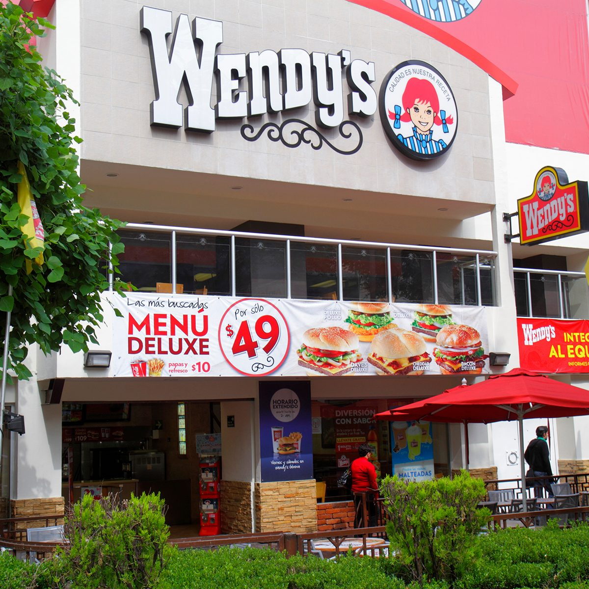 wendy's baked potato Mexico, Mexico City, Ciudad de MŽxico, Federal District, Zona Rosa Calle Genova . (Photo by: Jeffrey Greenberg/Universal Images Group via Getty Images)