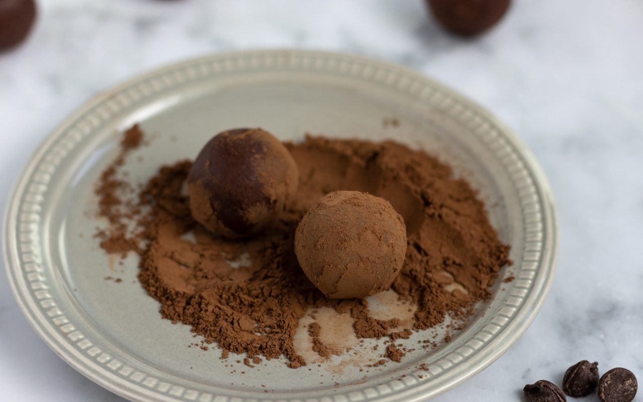 Chocolate truffles rolled in cocoa powder. How To Make Chocolate Truffles.toh.nancy Mock 4