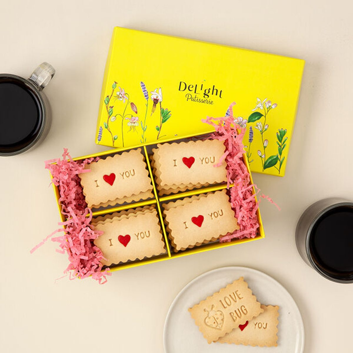 gifts for friends Love Message Shortbread Cookies