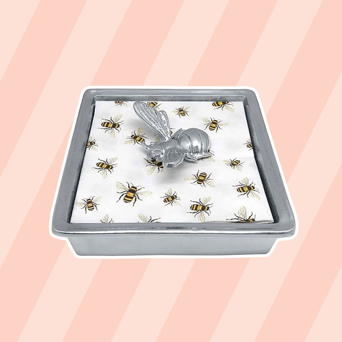 Pottery Barn Honey Bee Recycled Metal Napkin Holder