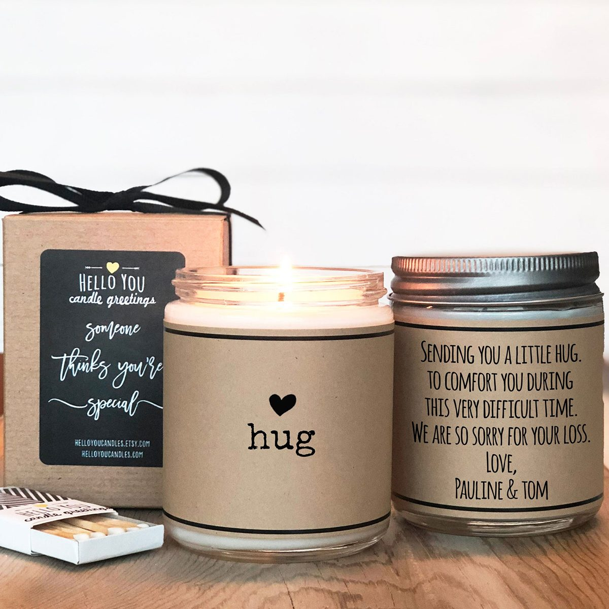 gifts for friends Send A Hug Candle