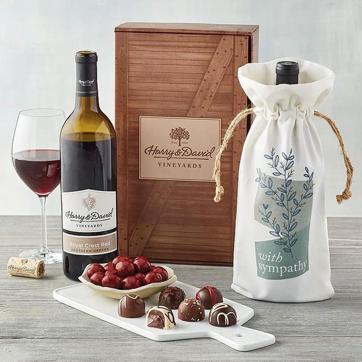Sympathy Red Wine Gift Box