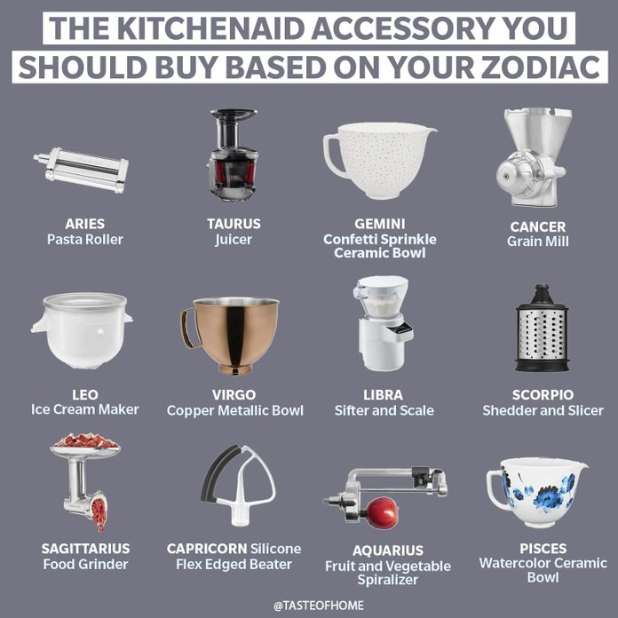 The Kitchenaid Accessory You Should Buy Based On Your Zodiac Sign