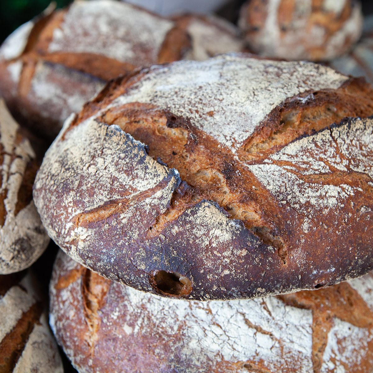 """types of french bread Close Up Of Delicious And Freshly Baked Pain De Campagne """"country Bread"""" Or French Sourdough."""