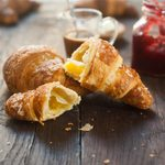 types of french bread Croissants With Coffee And Jam