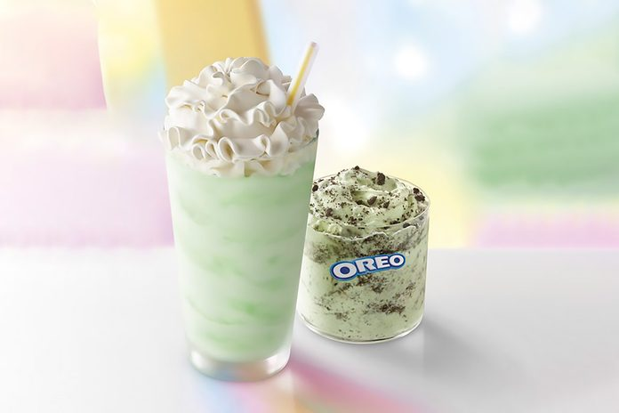 Mcdonald's Shamrock Shake and OREO® Shamrock McFlurry®