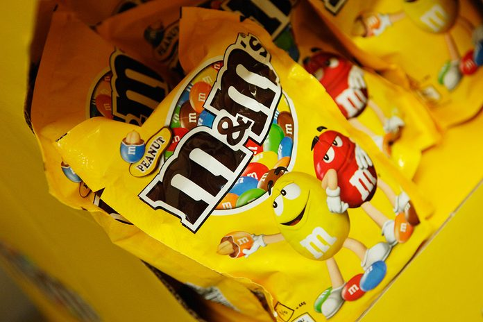 M&M,candy,peanut. (Photo by: Newscast/Universal Images Group via Getty Images)