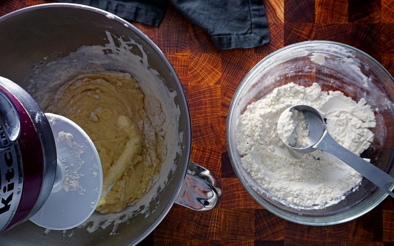 copycat olive garden breadsticks mixing olive garden breadstick dough