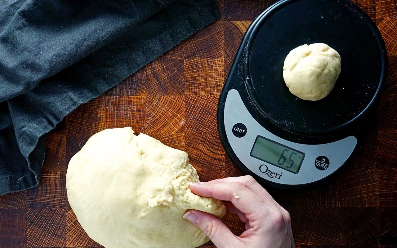 copycat olive garden breadsticks dividing olive garden breadstick dough into equal balls