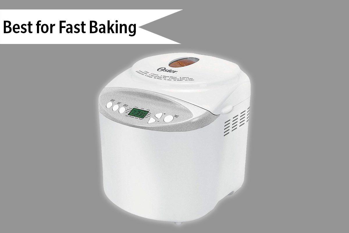 Oster Expressbake Bread Maker with Gluten-Free Setting, 2 Pound, White (CKSTBR9050-NP)