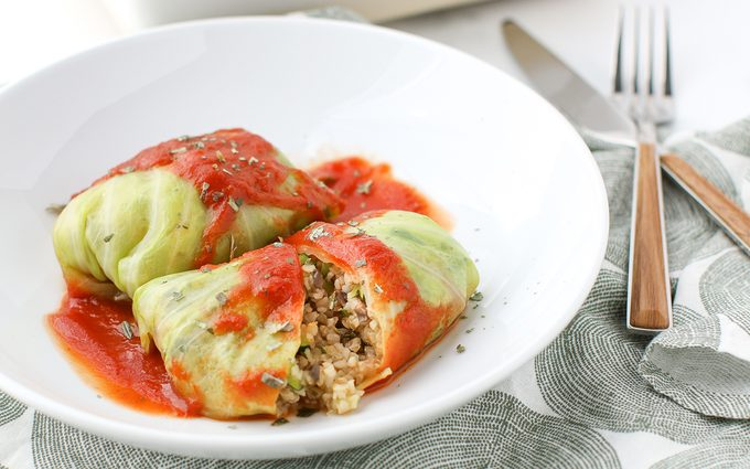 how to make vegan cabbage rolls Cabbage Rolls On Plate