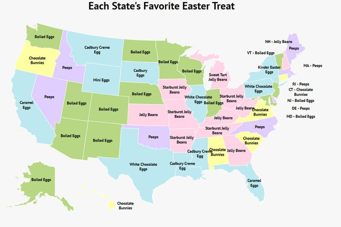 Favorite Easter Candy In Each State Map