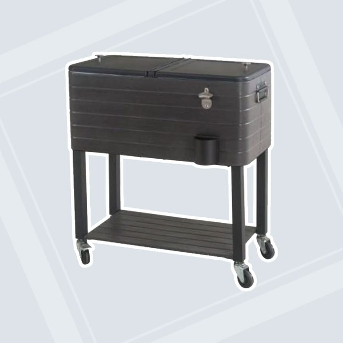 gardening gifts for dad 80qt Gray Wood Grain Finish Cooler