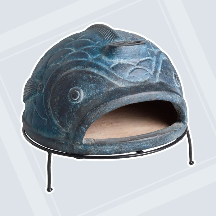 gardening gifts for dad Blue Fish Terracotta Pizza Oven