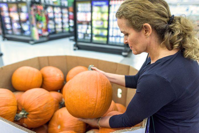 Shopping for pumpkins