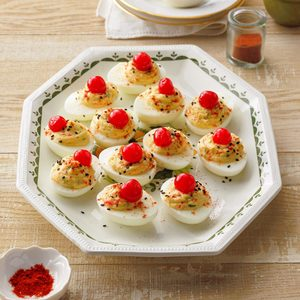 Sweet and Savory Deviled Eggs