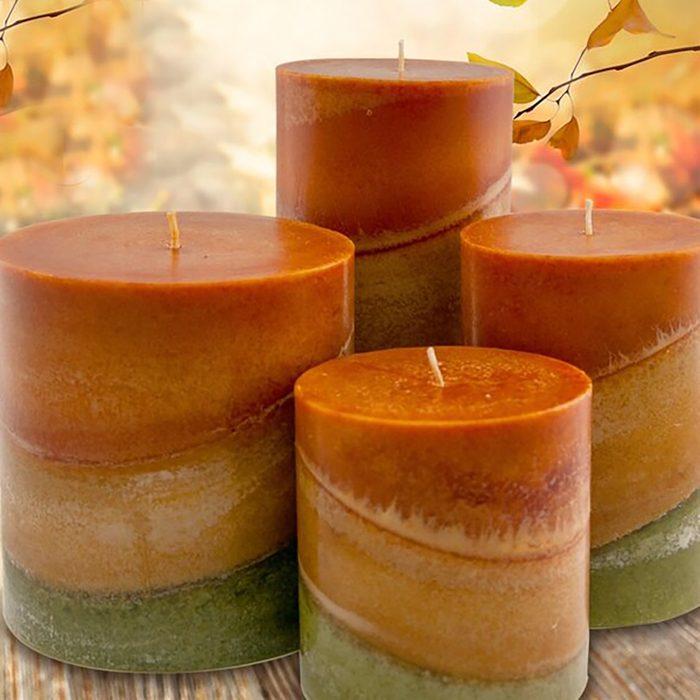 Autumn Leaves Macintosh Apple Scented Pillar Candle