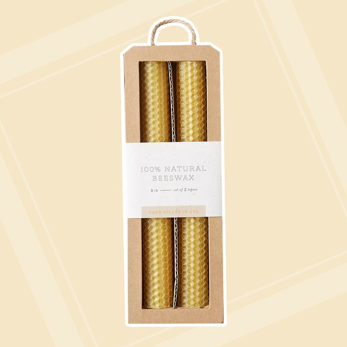 Beehive Taper Candles, Set of 2