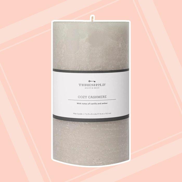 Pillar Cozy Cashmere Candle Gray - Threshold™