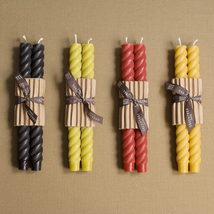 """Fall Twist 10"""" Rope Tapers Candles"""